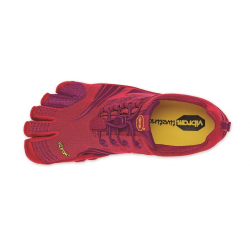 WOMENS KMD SPORT LS RED/PURPLE